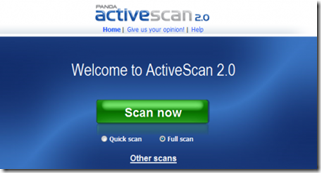 Panda Active Scan Free Online Scanner Tools