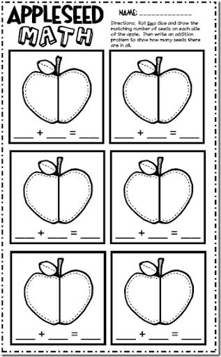 math worksheet : made for 1st grade apple activities : Kindergarten Apple Worksheets