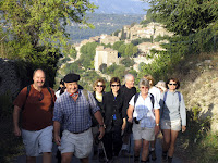 Walking out of Gordes.
