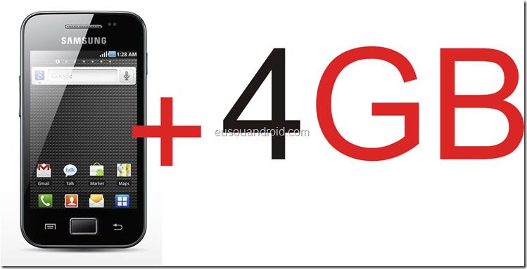 Galaxy Ace S5830   4 gigas