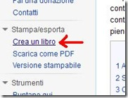 Wikipedia funzione Crea un libro