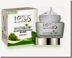 Lotus Herbals Whiteglow Skin Whitening  Gel Cream, 60g at Rs.225, after cash back, SPF-25