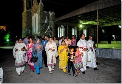 Christians Marching in Memory Peshawar Church bombing