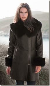 Celtic and Co Leather and Sheepskin Coat