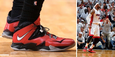 nike zoom soldier 7 pe timeline 140526 shoe soldier7 greysolepe King James and His 26 Different Nike Zoom Soldier VIIs in 2013 14