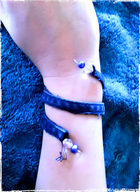 denim bracelet 2