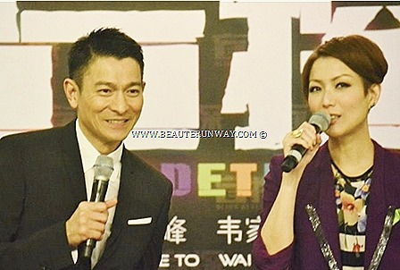 ANDY LAU & SAMMI CHENG IN SINGAPORE FOR BLIND DETECTIVE MOVIE GALA PREMIERE RWS Resorts World Sentosa Hong Kong Superstars silver screen theme song film-maker Johnnie To Cannes Film Festival 2013