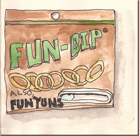 Fun-Dip also FunYuns Colored