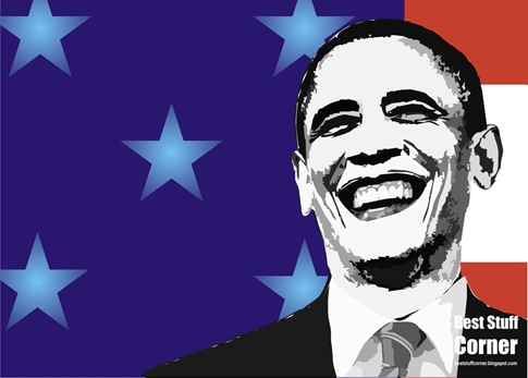 CorelDraw x3 Barak Obama Vector