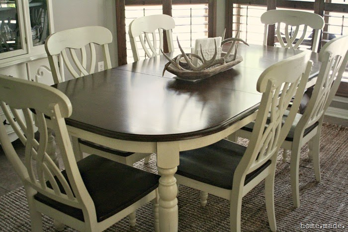 Wood and White Dining Set