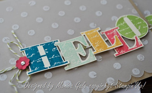 Stampin'Up! Morning Post Hello  close