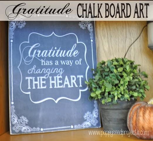 Fall Chalkboard Art - Gratitude chalkboard art