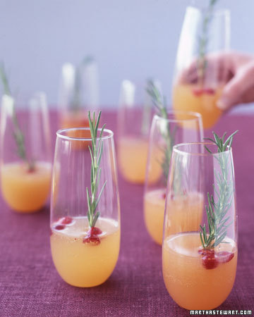 Sparkling Pear and Cranberry Cocktail: This fizzy cocktail marries the flavors of sweet pear and tart cranberry.