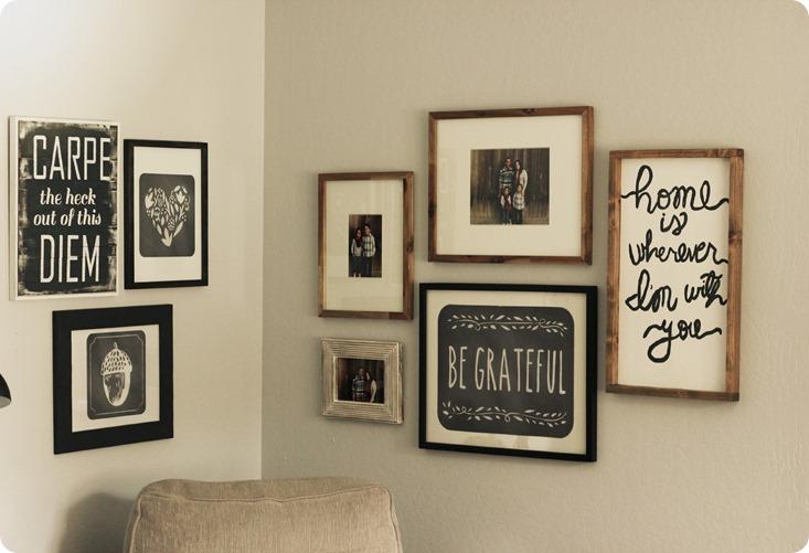 Wallternatives and easy corner gallery wall 5