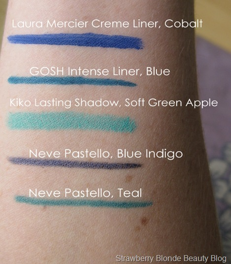 Bright-blue-green-eyeliner-swatches-makeup
