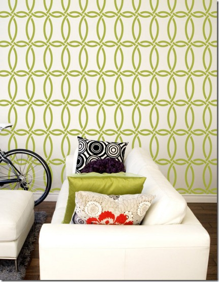 stencil from royal design studio--chain link all over pattern