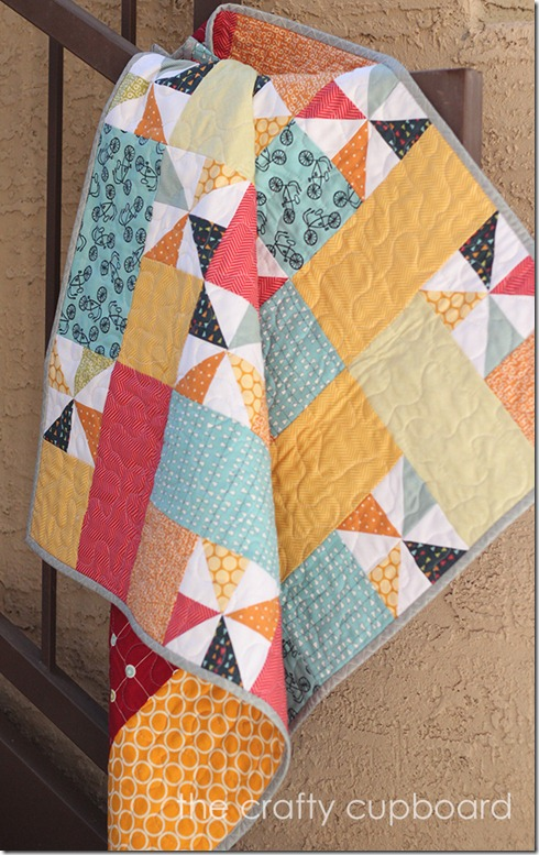 Pinwheel baby boy quilt Crafty Cupboard