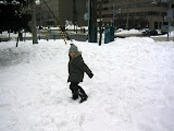 Kai was throwing snow balls almost non-stop the entire time we were in Sapporo