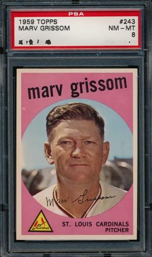 1959 Topps 243 Marv Grissom 2