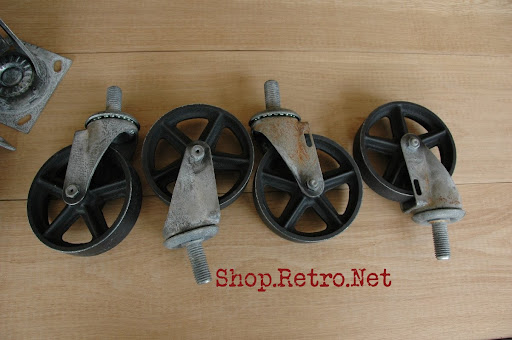 Delicieux Casters 5 Inch Vintage Industrial