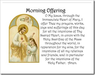 Child making an offering to Jesus - Morning Offering Pillow Case image