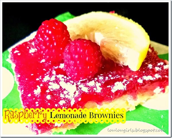 raspberry lemonade brownie