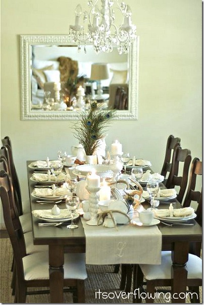 friday feature--whimsical autumn nature inspired table setting