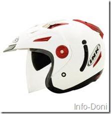 Helm INK Hitam dan Merah