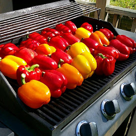 Roasted sweet peppers/canning by Suzanne Stonehouse Brummel - Food & Drink Fruits & Vegetables