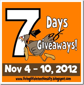 7 days of giveaways button