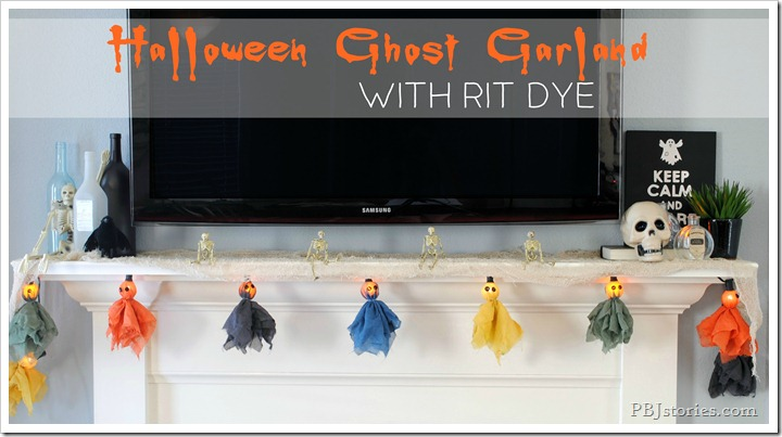 Halloween Ghost Garland on PBJstories.com