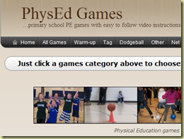 Just click a games category above to choose a physical education video    PhysEd Games