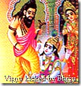 Vishnu kicked by Bhrigu