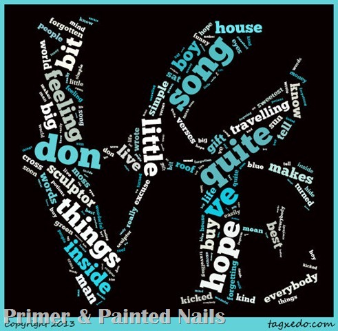 Your Song Tagxedo