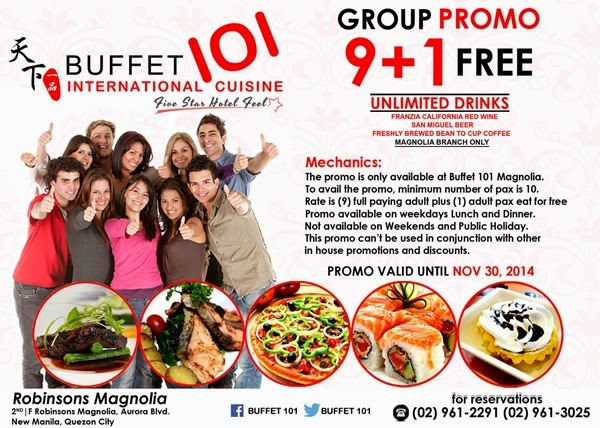 Buffet 101 Group Promo