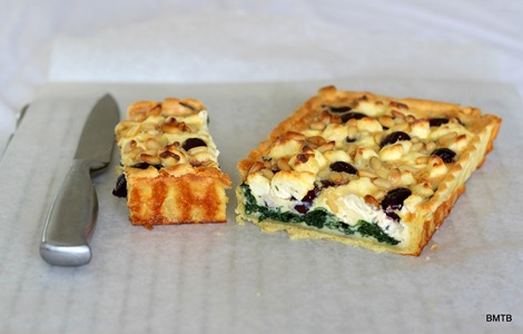 Olive, Spinach and Pinenut Tart (2)