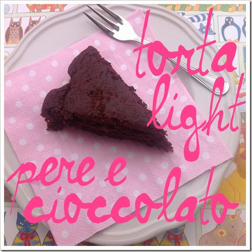 torta light cioccolato