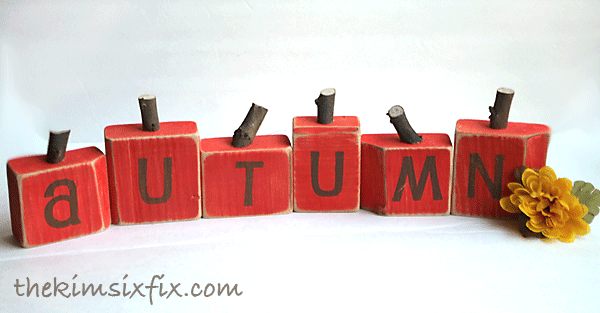Autumn block pumpkins