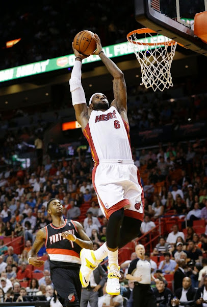 lebron james nba 140324 mia vs por 04 King James Wears New Soldier 7 PE on Winning Drive vs. Portland