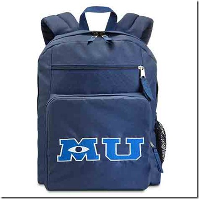 Monster University Official Clothing - Blue backpack