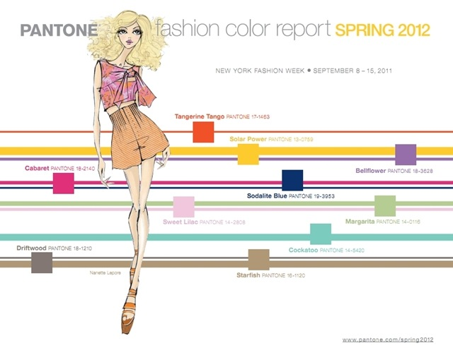 PANTONE FASHION REPORT SPRING 2012