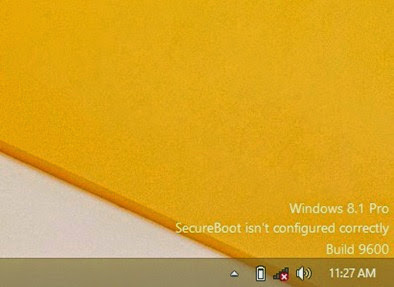 secure boot isn't configure correctly