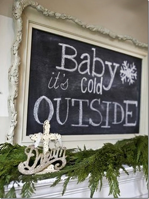 Christmas Decor Ideas from Setting for Four #Christmas #Decor #Design #Chalkboard #DIY