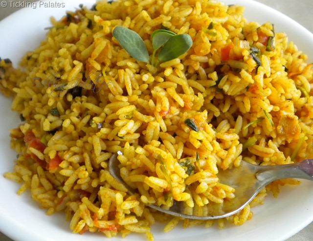 Tomato Methi Rice Recipe » Maayeka
