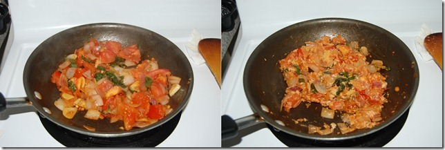 Onion tomato chutney process