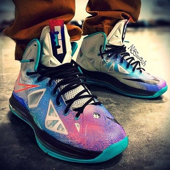 8bb86675ac3617 Fresh Onfoot Look at the Upcoming LeBron X Pure Platinum ...