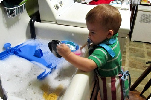 Nolan Doing Dishes