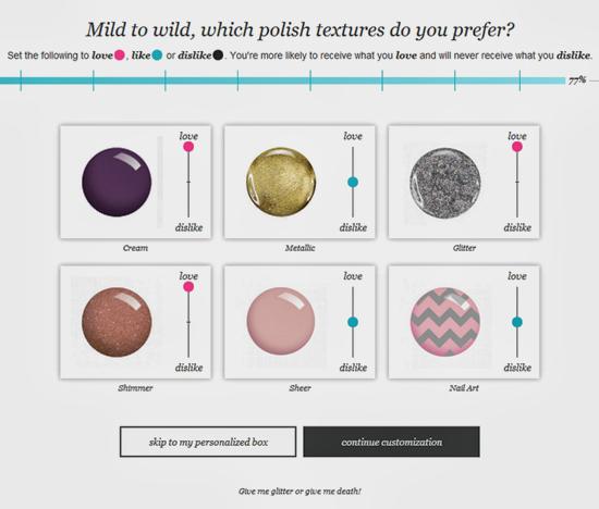 Wantable Nail Texture Preferences