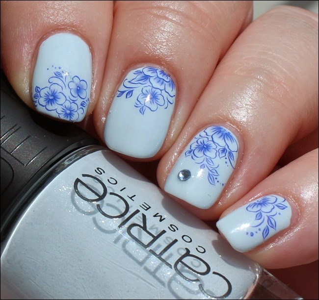 Blue Friday Flowers Blaue Blümchen Mottomonat Blütenzauber Nail Art Nageldesign Water Decals 05