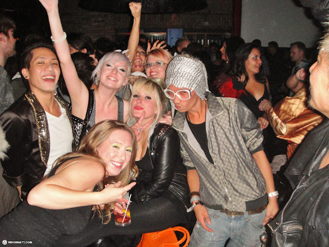 the fashion crew partying hard in Toronto, Ontario, Canada